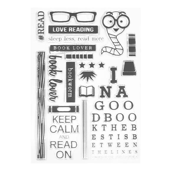 סט חותמות סיליקון - Love Reading