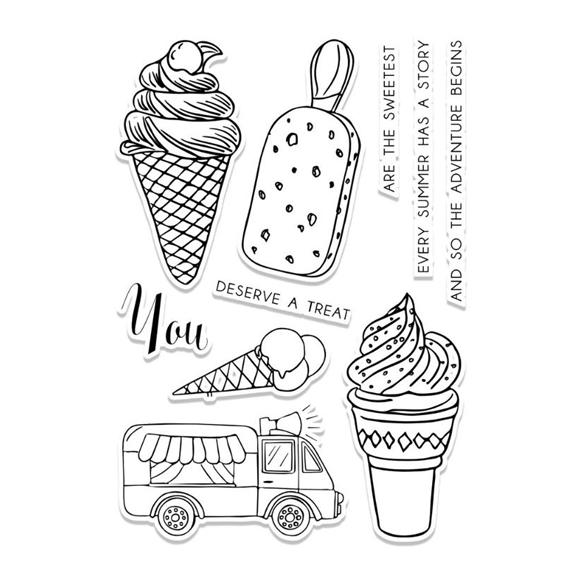 סט תבניות חיתוך וחותמות - אוטו גלידה