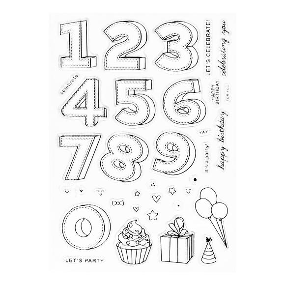 סט חותמות סיליקון - חגיגת יום הולדת