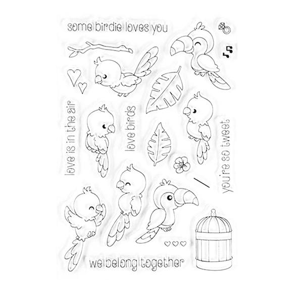 סט חותמות סיליקון - Love Birds