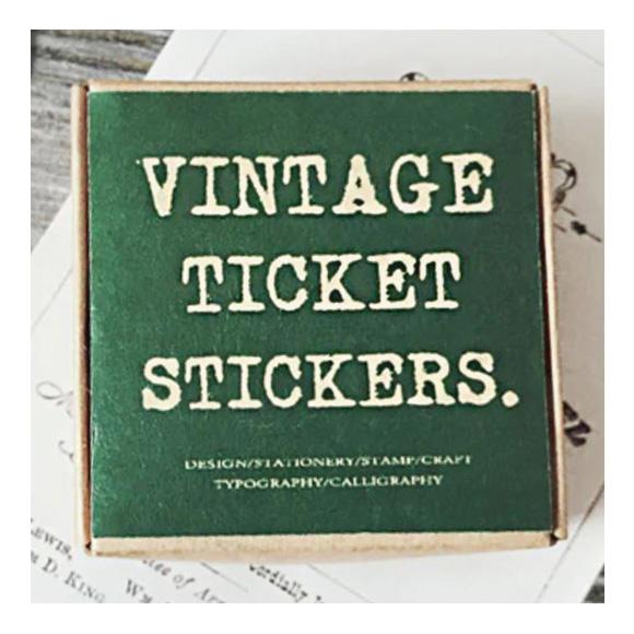 מדבקות - Vintage tickets