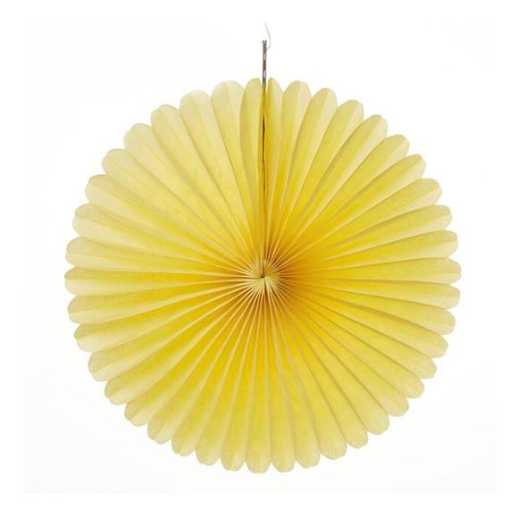 מניפת נייר משי ענקית - צהוב
