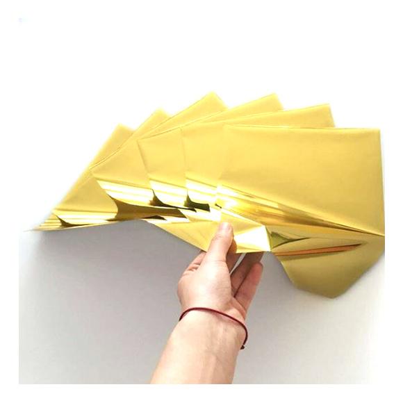 גיליונות פויל - Foil stamping paper - Yellow Gold