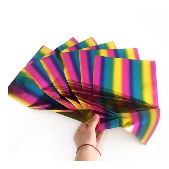 גיליונות פויל - Foil stamping paper - Rainbow
