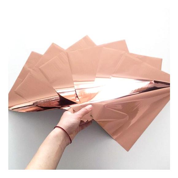 גיליונות פויל - Foil stamping paper - Rose Gold