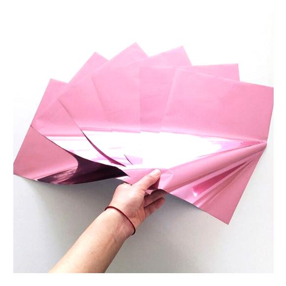 גיליונות פויל - Foil stamping paper - Petal Pink