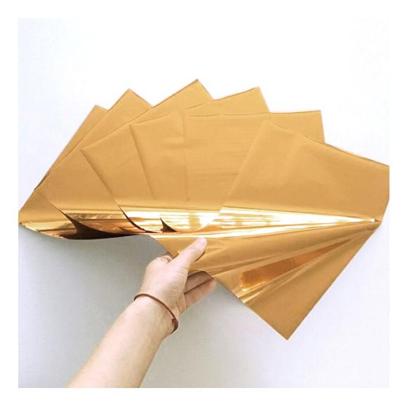 גיליונות פויל - Foil stamping paper - Light gold