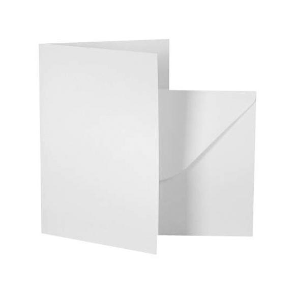 מארז כרטיסי ברכה ומעטפות - לבן
