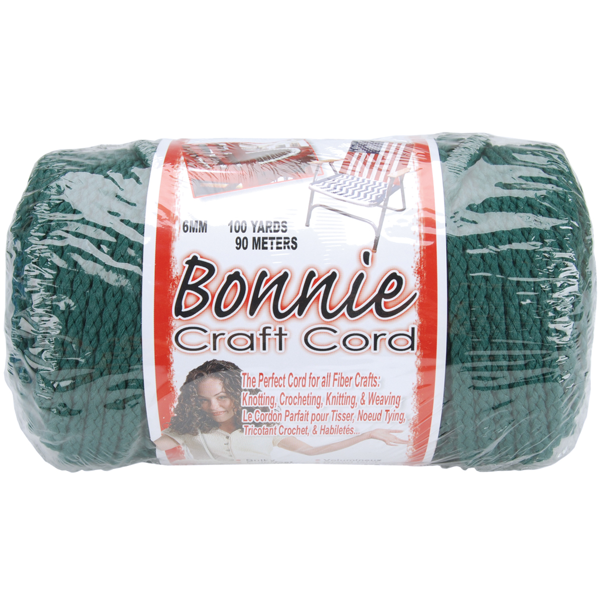 Macrame Craft Cord 6mmX100yd - Forest