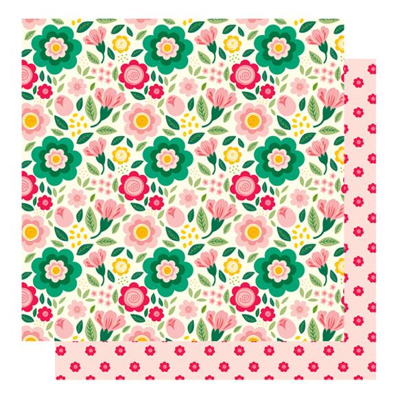 דף קארדסטוק - חולמת על אביב - פרחי אביב