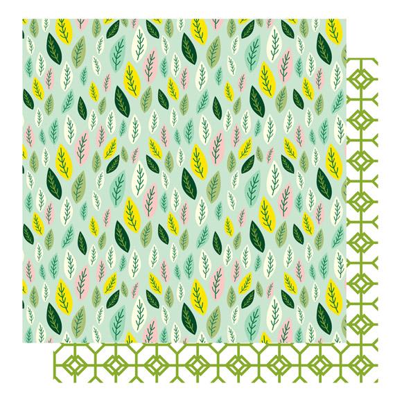 דף קארדסטוק - חולמת על אביב - עלים