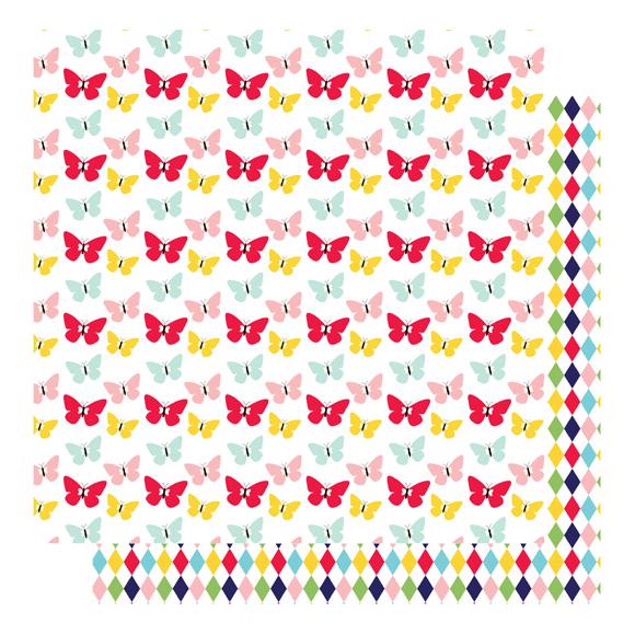 דף קארדסטוק - הכי גבוה שאפשר - פרפרים ומעויינים