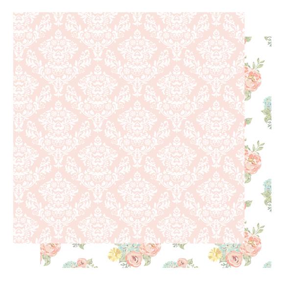 דף קארדסטוק - Shabby Colors - עיטורים ופרחים