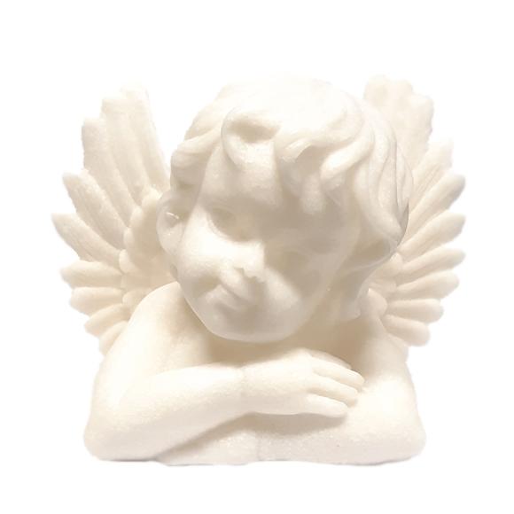 מנורת לילה - מלאך חולמני דמוי אבן