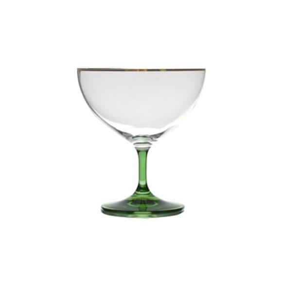 גביע קוקטייל מזכוכית - רגל ירוקה