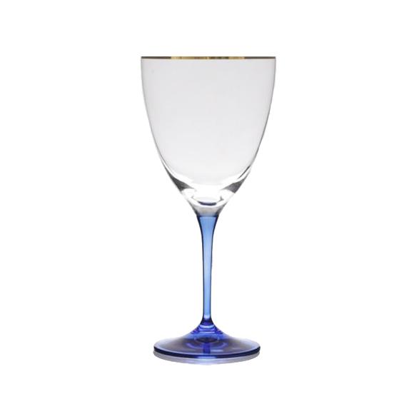 גביע יין מזכוכית - רגל כחולה