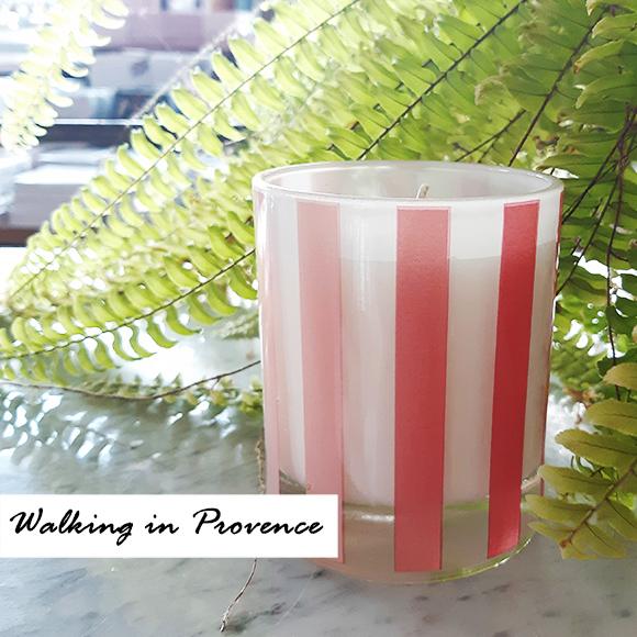 נר שעווה טבעי קטן- אומברה ורוד- Walking in Provence