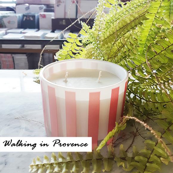 נר שעווה טבעי גדול- אומברה ורוד- Walking in Provence