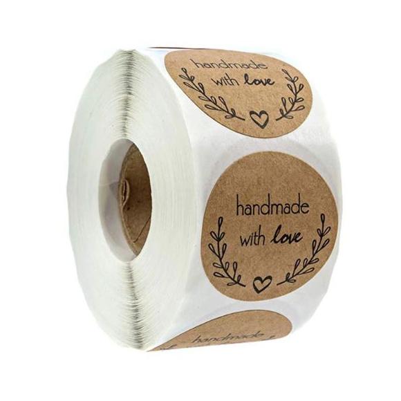 גליל מדבקות - Handmade with Love