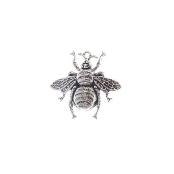 צ'ארם חיפושית ממתכת - כסף