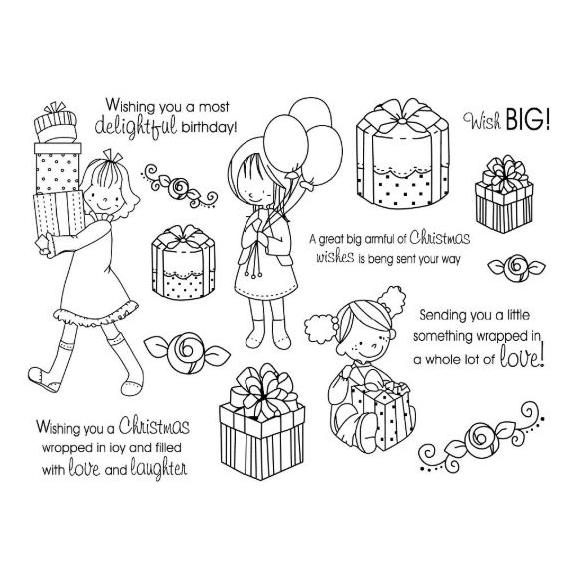סט חותמות סיליקון - Wish Big