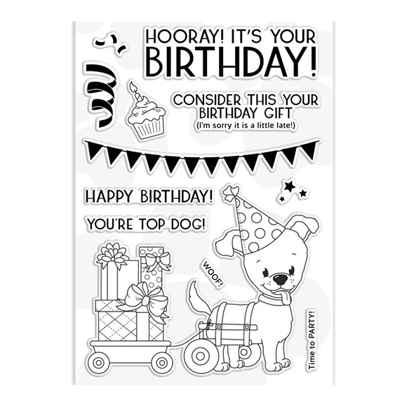 סט חותמות סיליקון - Happy Birthday