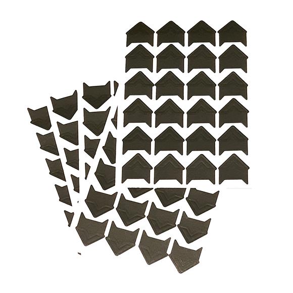 פינות נייר לתמונה - שחור