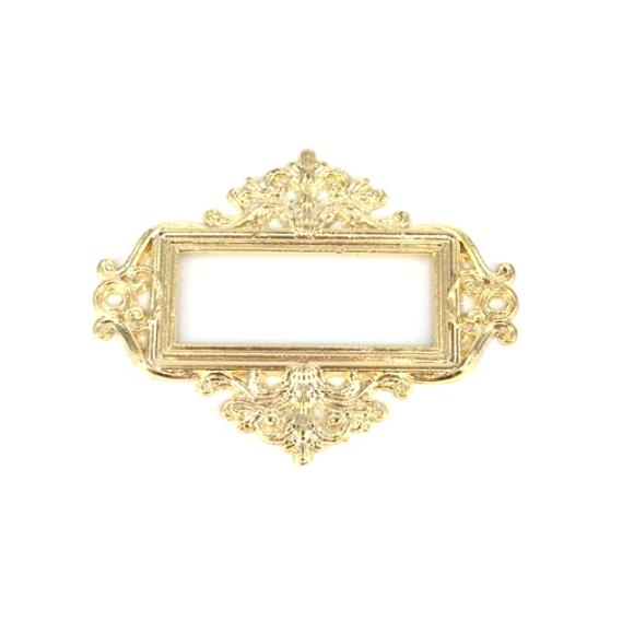 מסגרת מתכת למגירת דפוס - זהב