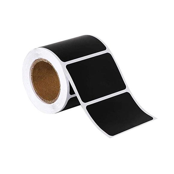 מדבקות לוח גיר - מלבנים שחורים