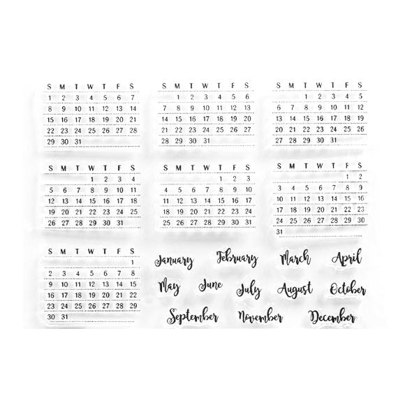 סט חותמות סיליקון - לוח שנה