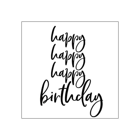 חותמת סיליקון - Happy Birthday