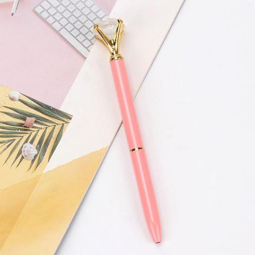 עט יהלום - ורוד