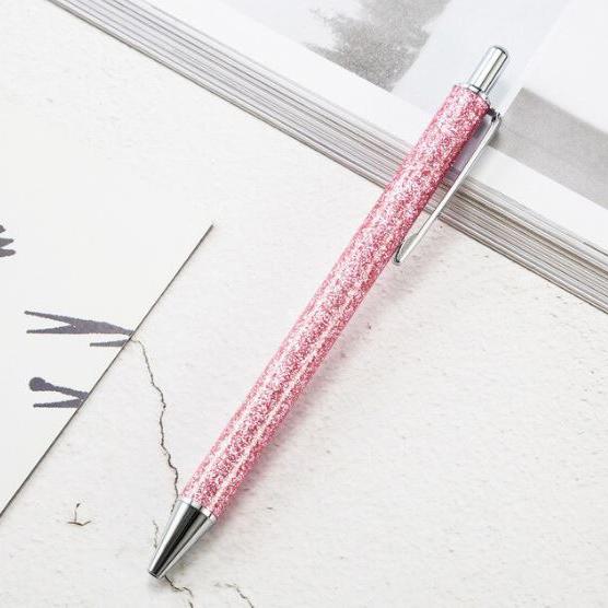 עט נצנצים - ורוד