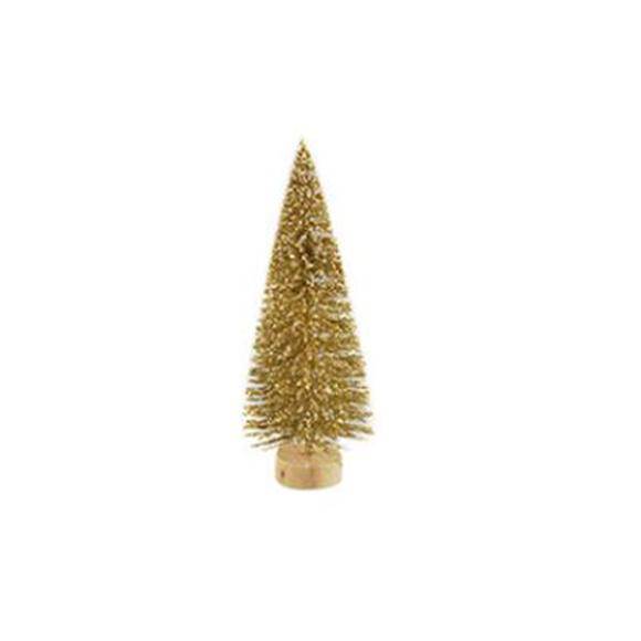 עץ אשוח קטן - זהב מנצנץ