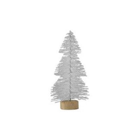 עץ אשוח קטן - לבן מנצנץ