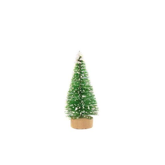 עץ אשוח מיניאטורי - ירוק בהיר עם שלג