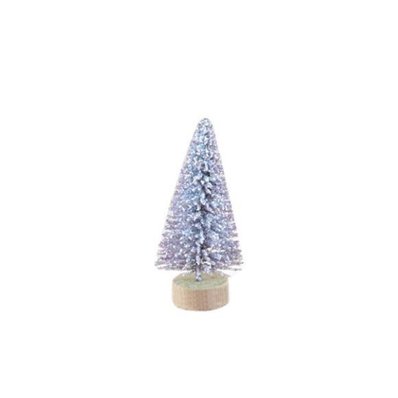 עץ אשוח מיניאטורי - כסף מנצנץ