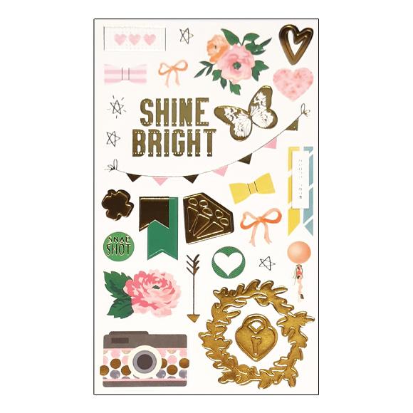 מדבקות קארדסטוק - Shine Bright