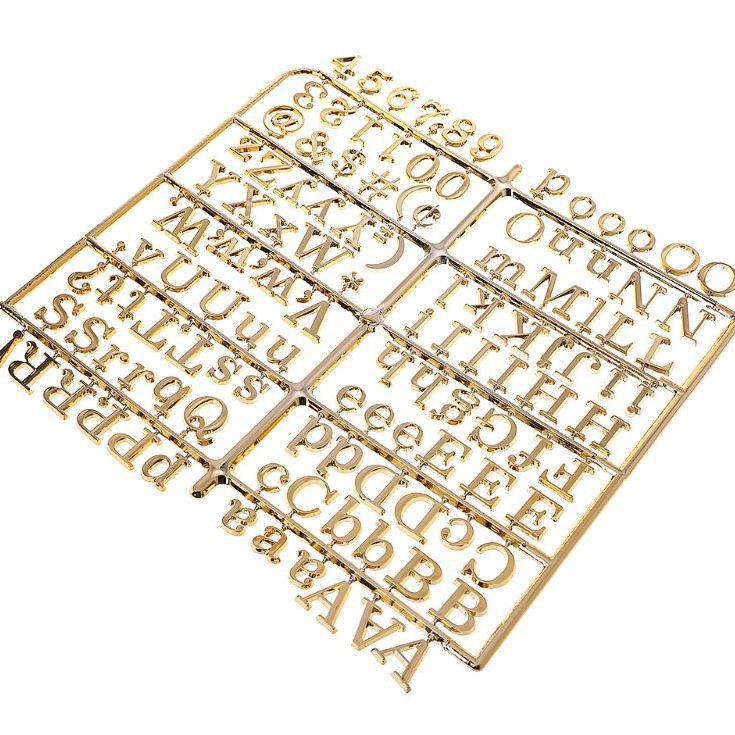 אותיות Letter Board - Gold