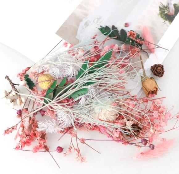 מארז פרחים מיובשים מעורב