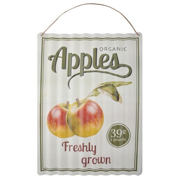 שלט מתכת גלית - Apples