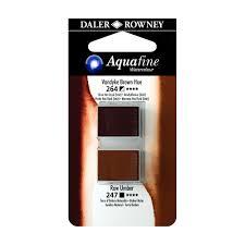 זוג קוביות צבעי מים 264/247 חומים עמבר