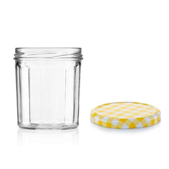 """צנצנת זכוכית 320 מ""""ל"""