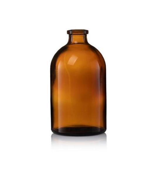 """בקבוק זכוכית חומה 100 מ""""ל"""