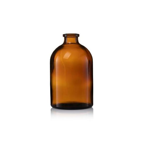 """בקבוק זכוכית חומה 50 מ""""ל"""