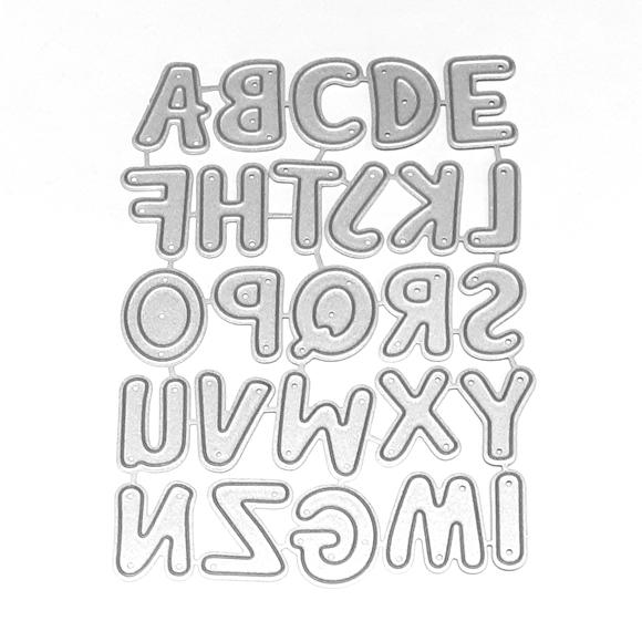 סט תבניות חיתןך - Alphabet capital letters