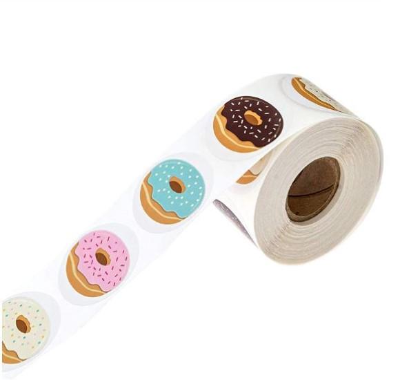 גליל מדבקות - Sweet donuts
