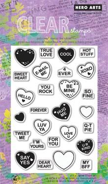 חותמות סיליקון - Sweet Hearts - Clear Stamp