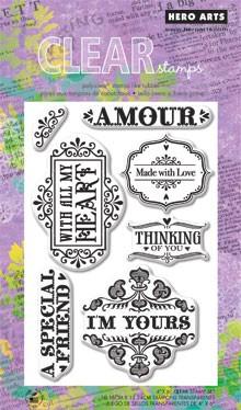 חותמות סיליקון - Amour - Clear Stamp