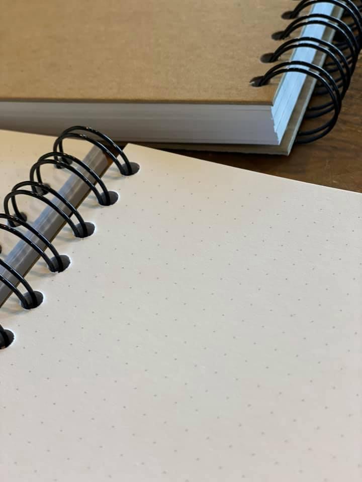 מחברת גריד מנוקד קראפט A5 לעיצוב עצמי